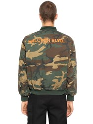 Alyx Alpha Reversible Nylon Bomber Jacket Green Camo