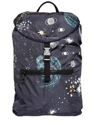 Valentino Cosmos Printed Nylon Backpack