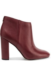 Sam Edelman Cambell Leather Ankle Boots Burgundy