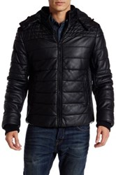 Rogue Faux Leather Coated Canvas Jacket Black