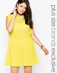 Alice And You Lace Detail Playsuit Lime