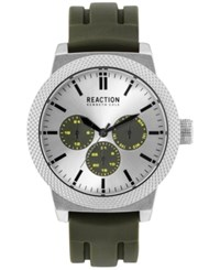 Kenneth Cole Reaction Men's Green Silicone Strap Watch 48Mm 10031944
