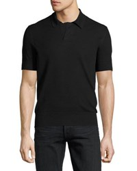 Tom Ford Waffle Knit Short Sleeve Pullover White Black