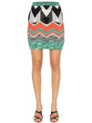 Missoni Zigzag Viscose Knit Mini Skirt