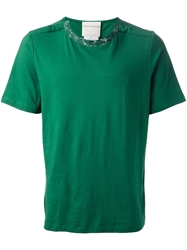 Stephan Schneider 'Caution' T Shirt Green