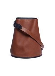 Creatures Of Comfort Colourblock Small Leather Bucket Bag Brown