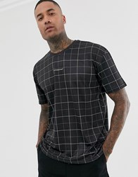 Good For Nothing Oversized T Shirt In Check Black