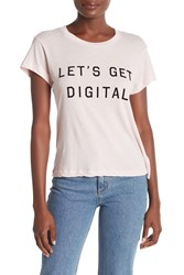 Wildfox Couture Digital No.9 Graphic Tee Babydoll Pink