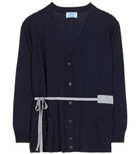 Prada Wool Cardigan Blue