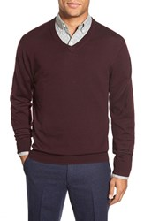 Men's Bonobos Slim Fit Merino Wool V Neck Sweater Port Royale