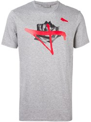 Christian Dior Homme Rose Print T Shirt Grey