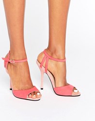 Little Mistress Tia Barely There Sandal Coral Pink