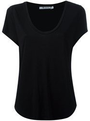 Alexander Wang Scoop Neck T Shirt Black