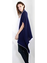 Johnstons Of Elgin Cashmere Gauzy Waterfall Wrap Blue