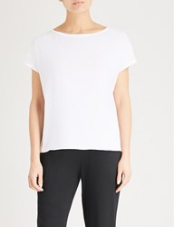 The White Company Slouchy Cotton T Shirt White