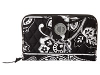 Vera Bradley Turn Lock Wallet Midnight Paisley Wallet Handbags Black