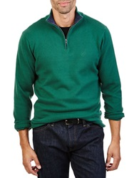 Nautica Quarter Zip Pullover Sweater Hunter Green