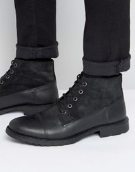 Jack And Jones Kingsley Lace Up Boot Black