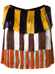 Missoni Mare Fringed Layered Cropped Top Multicolour