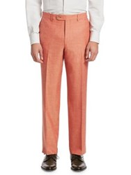 Saks Fifth Avenue Collection Flat Front Trousers Orange
