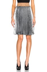 3.1 Phillip Lim Sunburst Pleated Skirt In Metallics Gray Metallics Gray