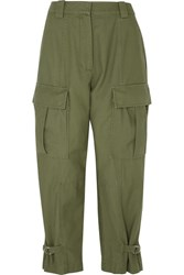 3.1 Phillip Lim Tapered Cotton Twill Cargo Pants Army Green