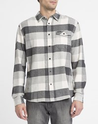 Wrangler Ecru And Grey Checked Flannel Shirt
