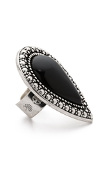 Samantha Wills Bohemian Bardot Ring Black Silver