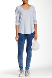 American Apparel Acid Wash Winter Legging Blue