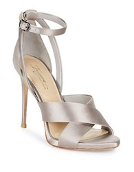 Imagine Vince Camuto Dairren Satin Ankle Strap Dress Sandals Grey