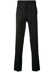 Versus Tonal Embroidered Logo Trousers Black