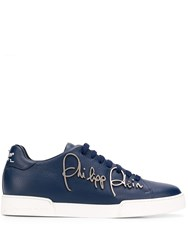 Philipp Plein Signature Plaque Sneakers Blue
