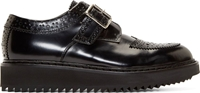 Kris Van Assche Black Polished Leather Creeper Brogues