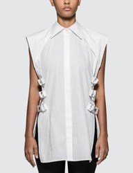 Helmut Lang Buckled Shirt.Crisp
