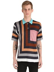 Marco De Vincenzo Graphic Knit Polo Shirt