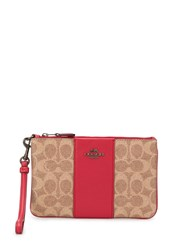 Coach Signature Canvas Small Wristlet Neutrals
