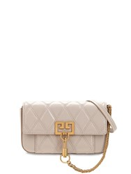 Givenchy Mini Pocket Quilted Leather Bag Natural