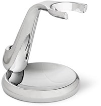 The Art Of Shaving Fusion Chrome Collection Brush And Razor Stand Black