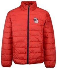 G3 Sports Men's St. Louis Cardinals Skybox Packable Quilted Jacket Red Navy