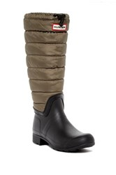 Hunter Original Quilted Leg Rain Boot Green