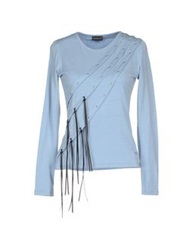Roccobarocco Jeans T Shirts Sky Blue