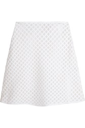 Tory Burch Alaina Embroidered Cotton Mini Skirt