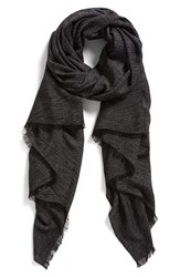 Women's Halogen Cross Dye Scarf Black Black Combo