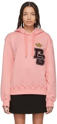 Dolce And Gabbana Pink Crown Patch Hoodie
