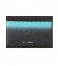 Balenciaga Leather Card Holder Black