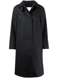 Mackintosh Dunkeld Black Bonded Cotton 3 4 Coat Lr