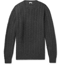 Margaret Howell Cable Knit Wool Sweater Gray