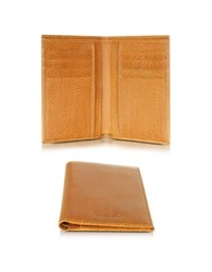 Pineider Country Cognac Leather Vertical Wallet