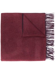 N.Peal Woven Cashmere Shawl Scarf Red