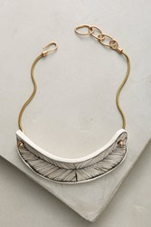Anthropologie Hera Ceramic Collar Necklace White